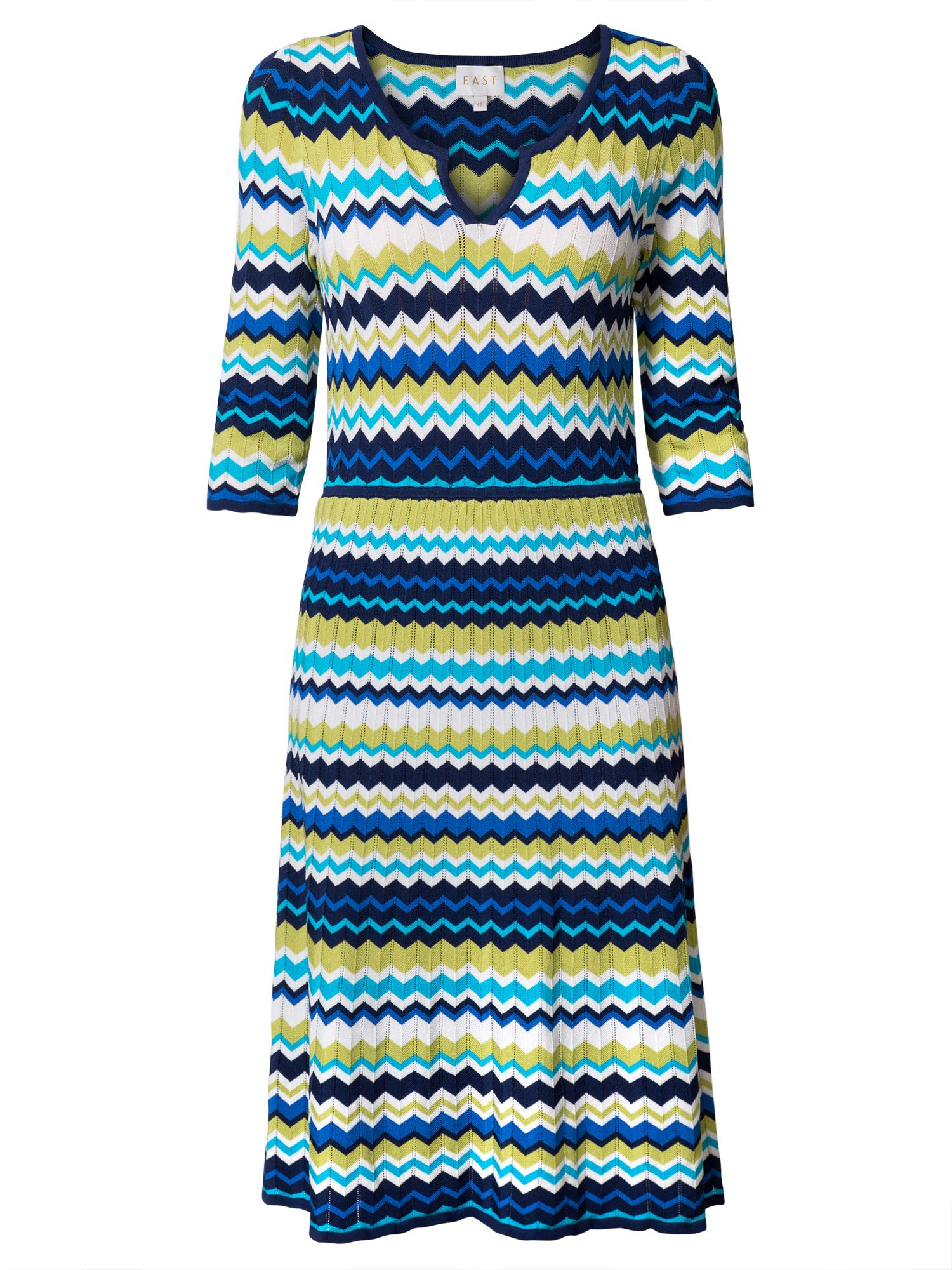 East Zig Zag Dress, Multi-Coloured