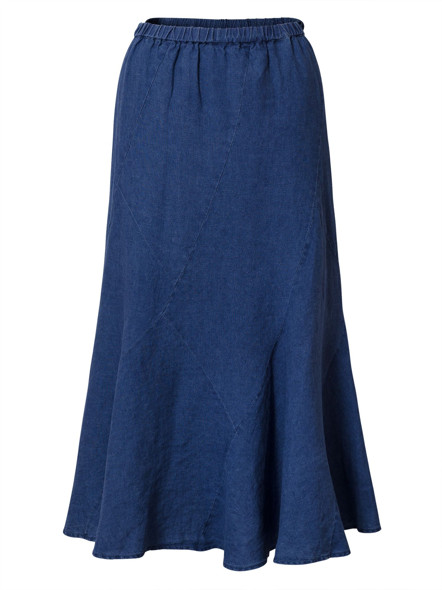 East Linen Cutabout Skirt, Blue