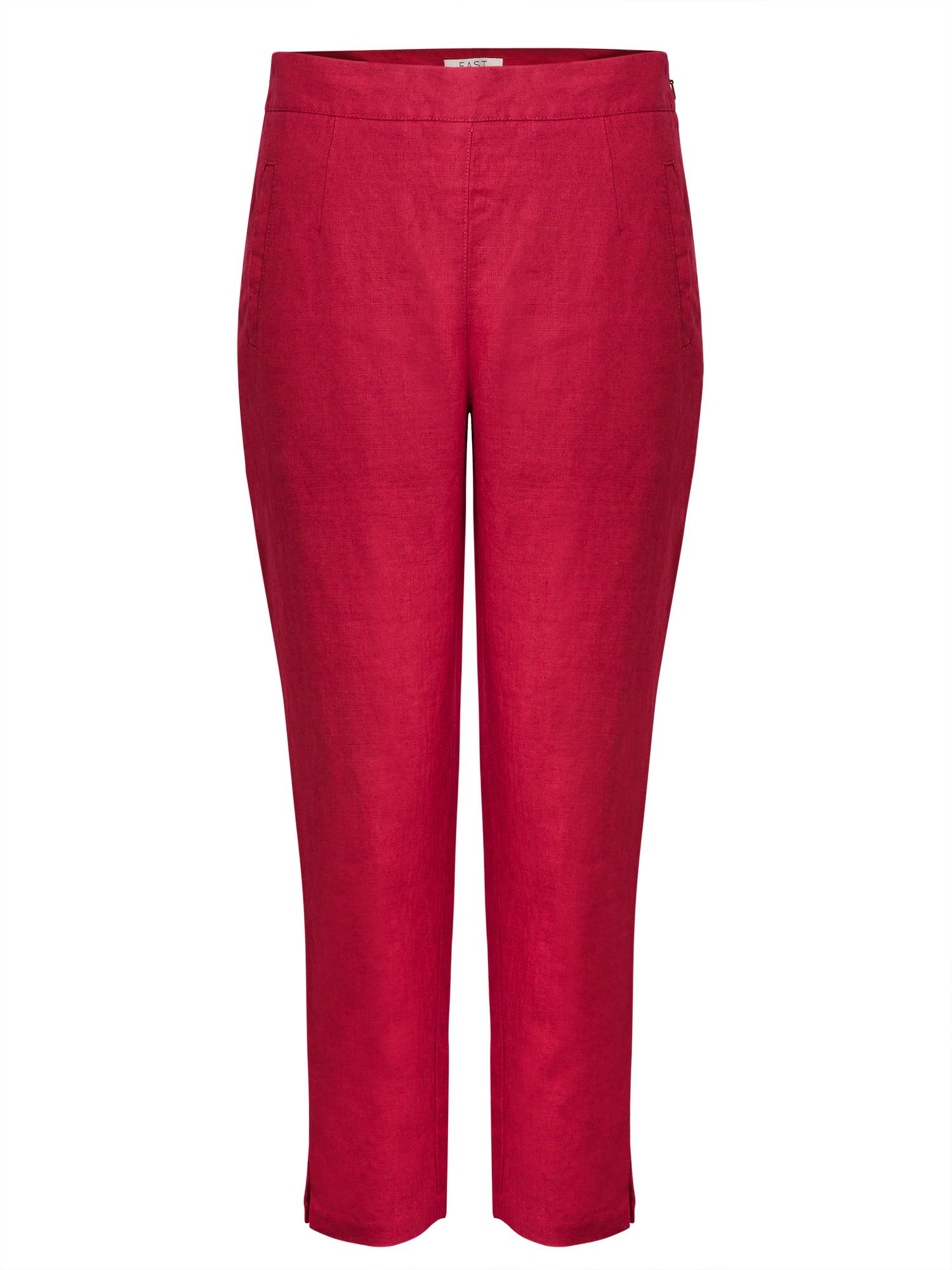 East Linen Capri Trouser, Red