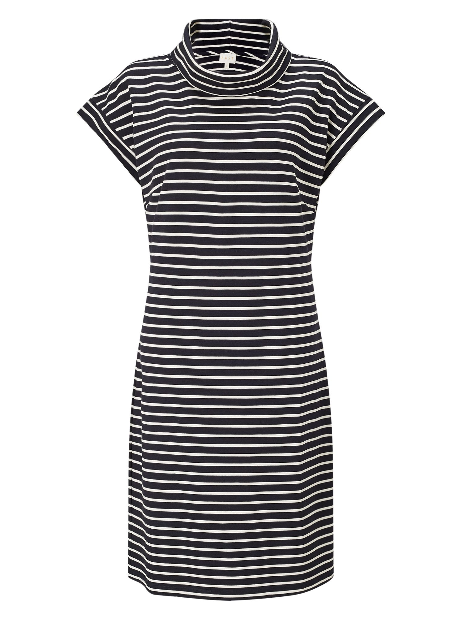 East Bardot Stripe Jersey Dress, Blue