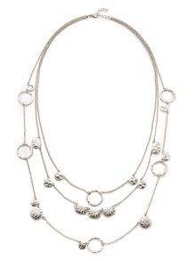 East Irregular Disc Necklace