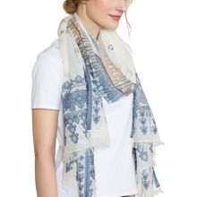 East Woven Border Scarf