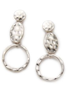 East Irregular Disc Earring