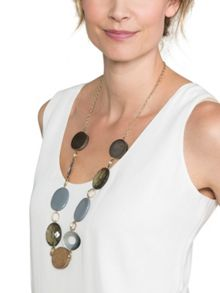 East Circle And Ring Bead Necklace
