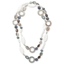 East Long Multi Bead Shaped Necklace