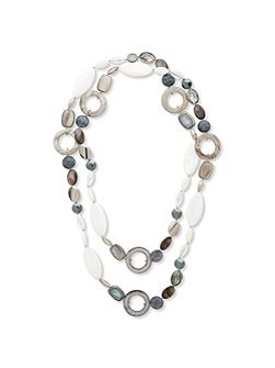 Long Multi Bead Shaped Necklace
