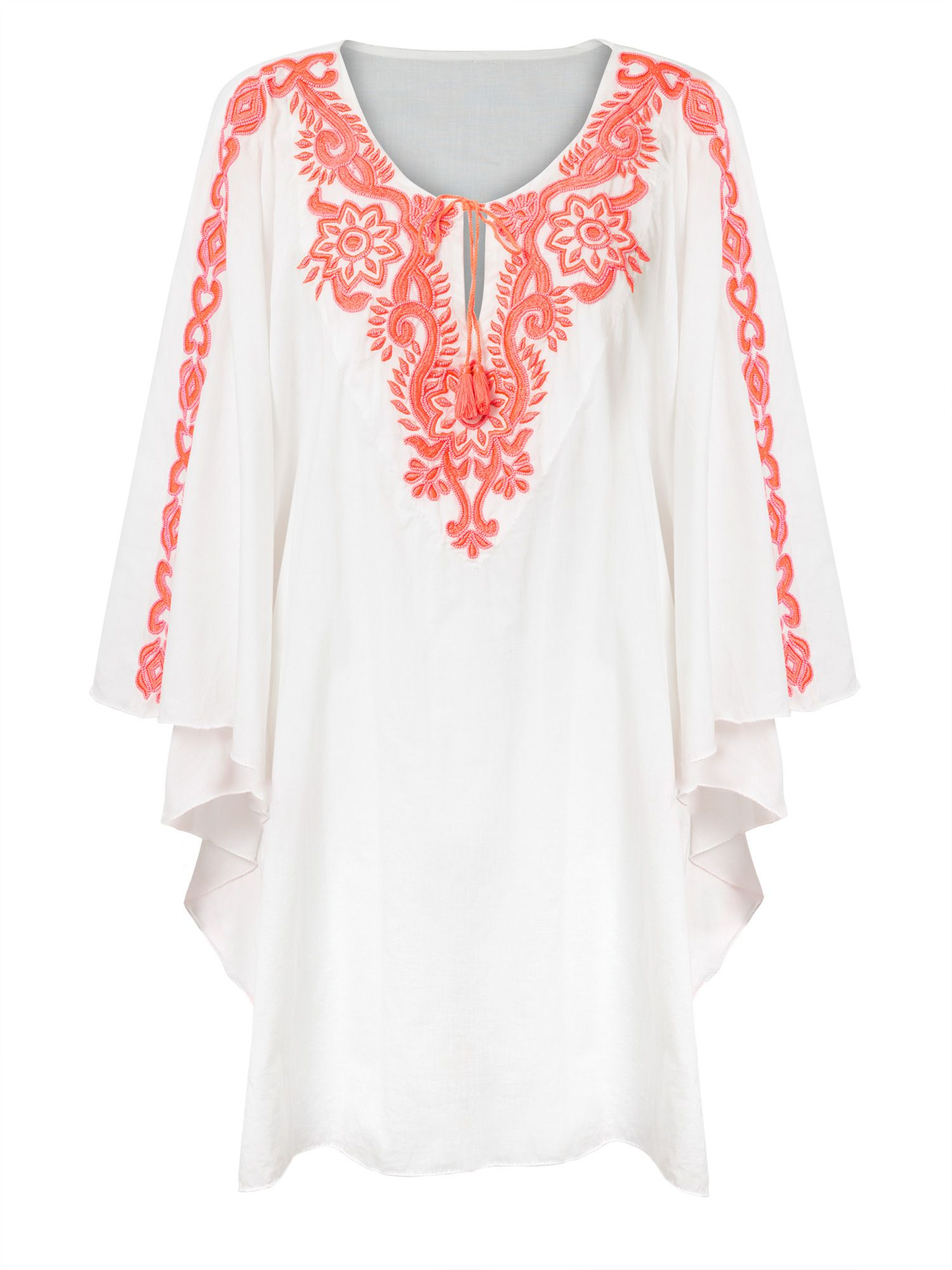 East Beaded Embroidered Kaftan, Pink