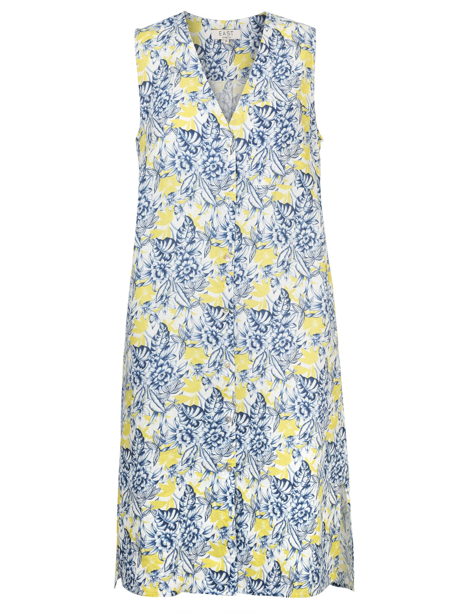 East Linen Sardinia Dress (Mika), Lemon