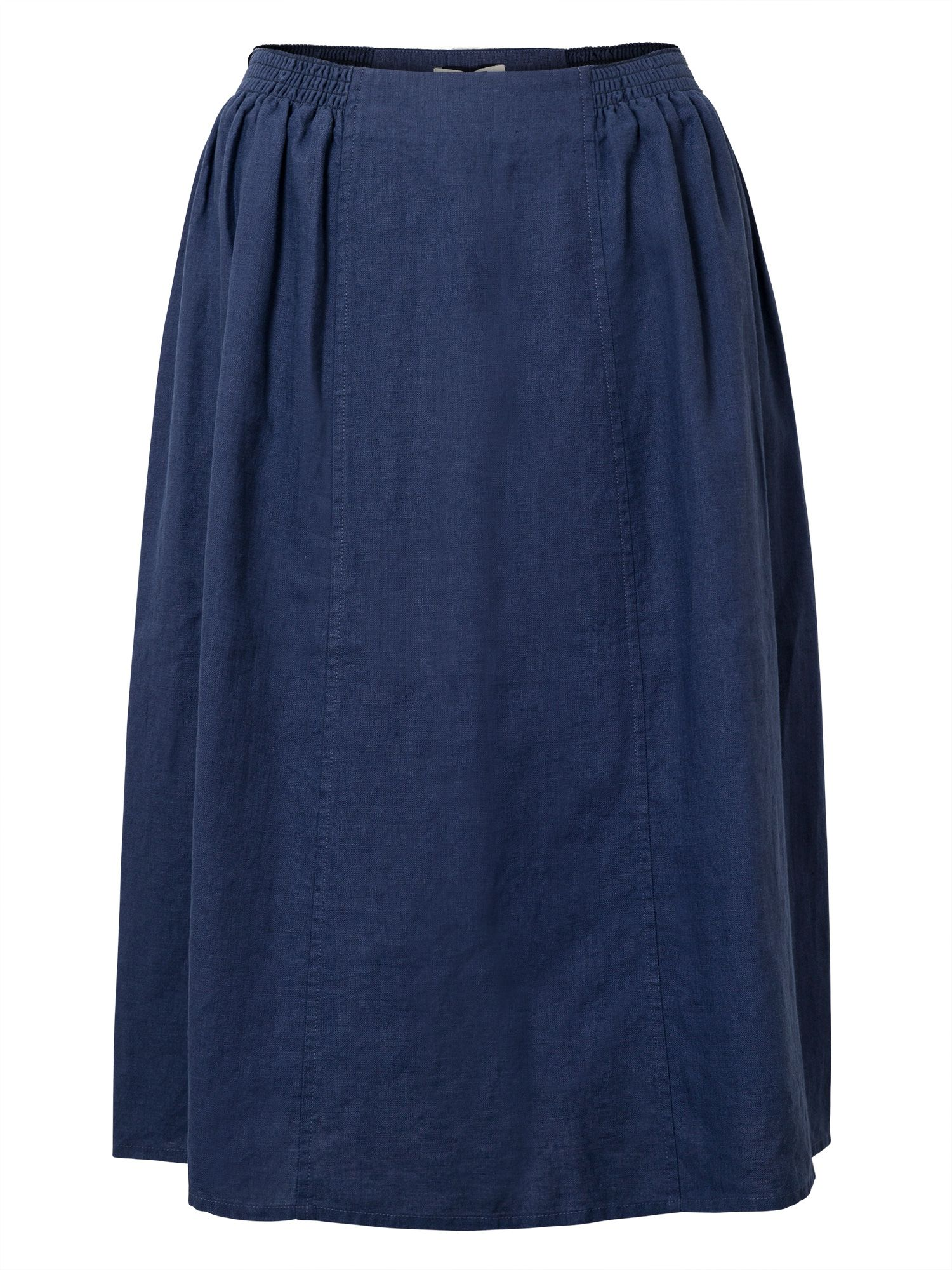 East Linen Elastic Detail Skirt, Blue