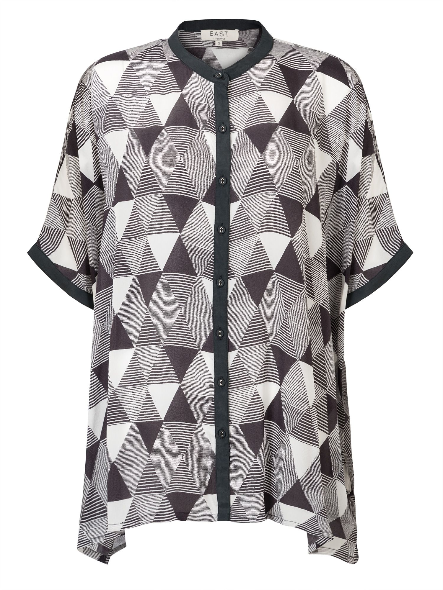 East Pyramid Print Oversize Blouse, Green