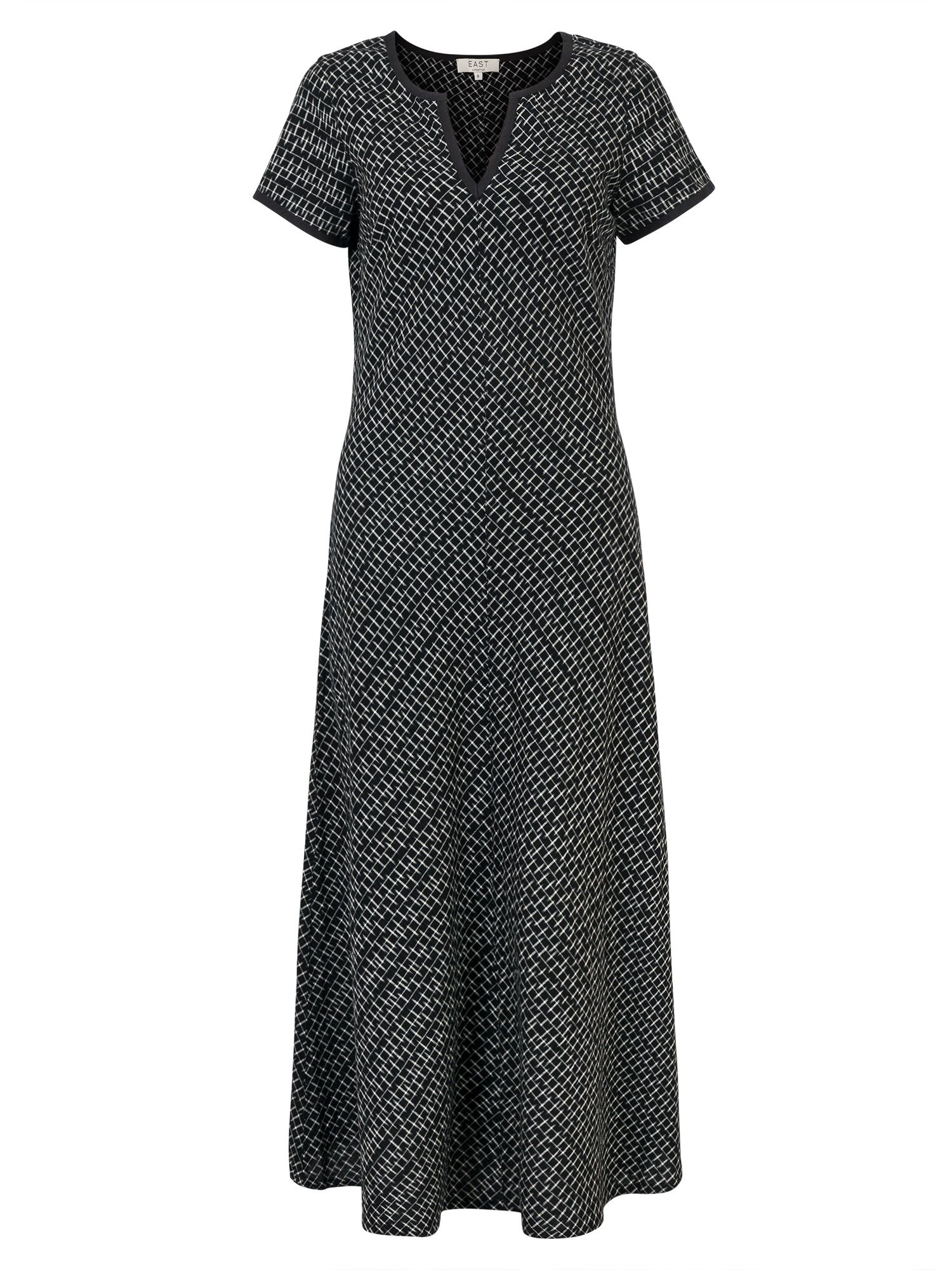 East Ikat Bias Cut Dress, Black