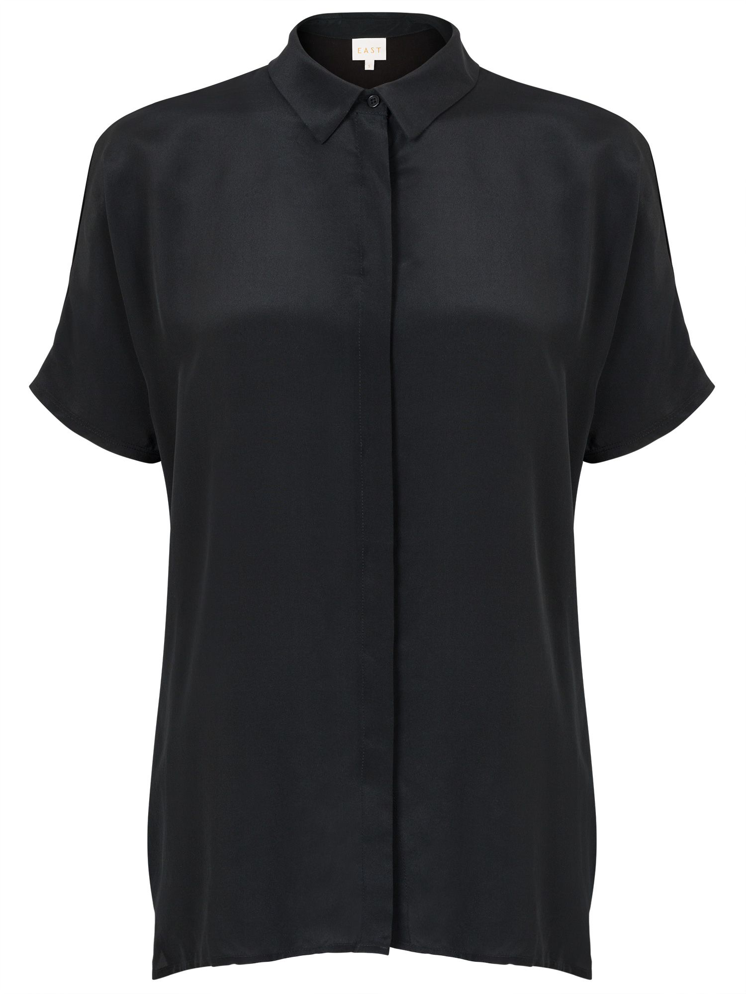 East Combination Silk Tee, Black