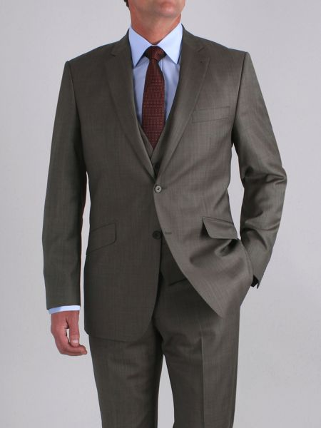 Racing Green Taupe sharkskin jacket