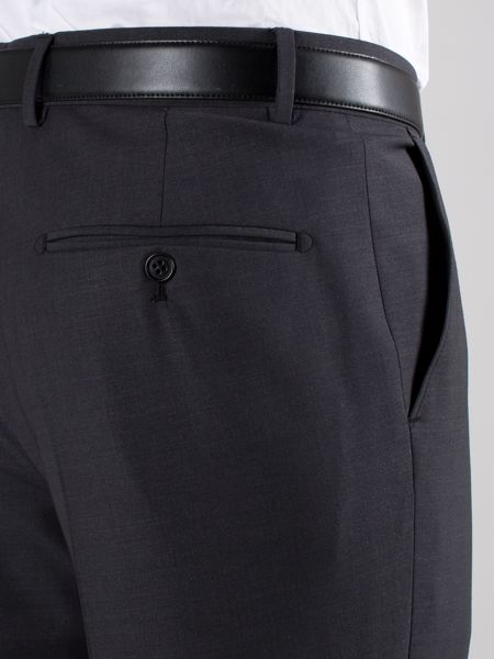 Alexandre of England Plain Charcoal Trouser