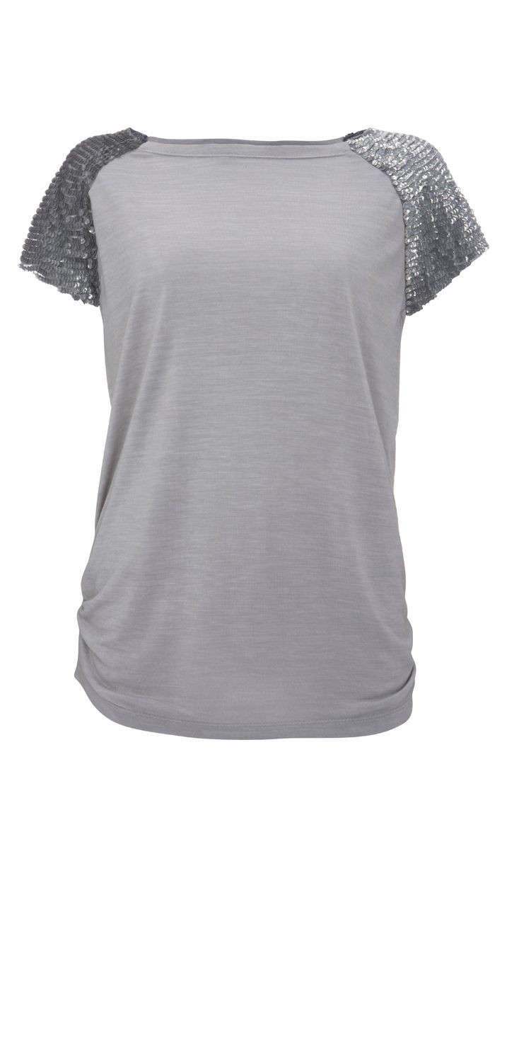 Mint Velvet Sequin sleeve t-shirt product image
