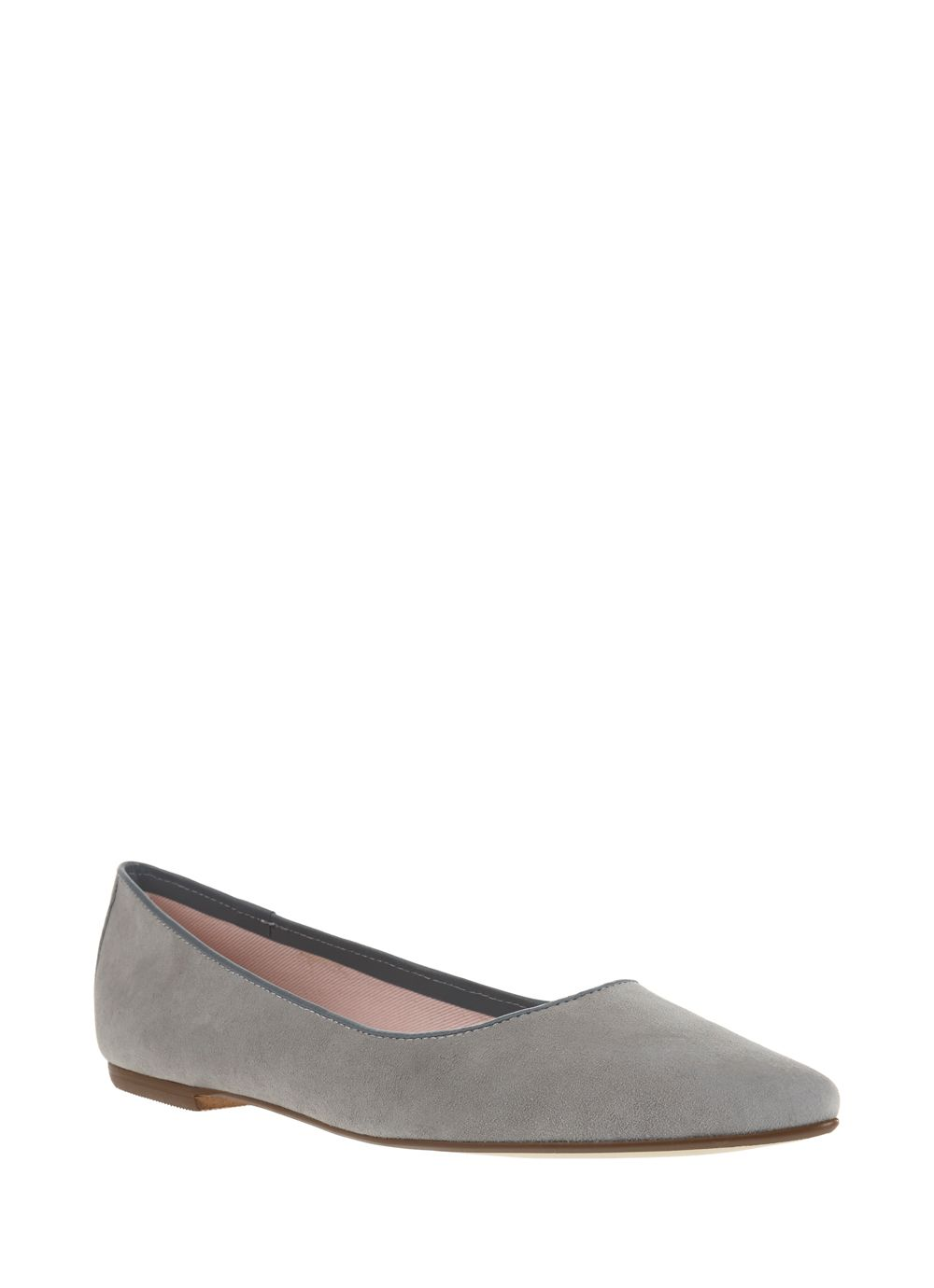 Grey Suede Pixie Pump