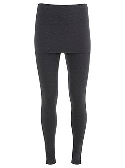 Charcoal Skirted Legging