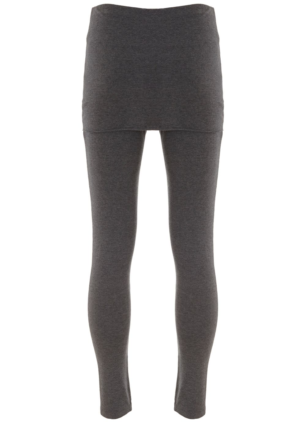 Mint Velvet Charcoal Skirted Legging, Grey