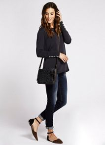 Mint Velvet Navy Zip Back Knit