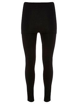 Black Skirted Legging