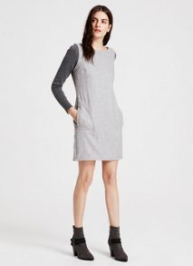 Mint Velvet Silver Grey Pinafore Dress