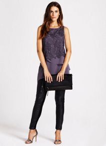 Smoke Lace Layer Top