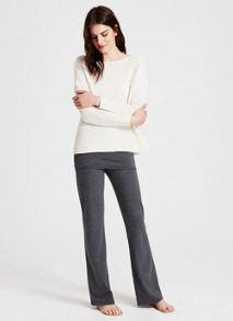 Cream Wavy Stitch Boxy Knit
