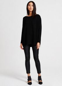 Mint Velvet Black Oversized Tunic