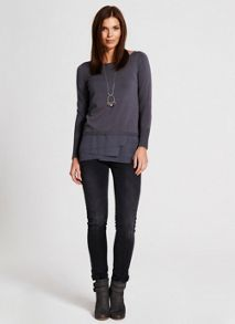 Smoke Asymmetric Knit