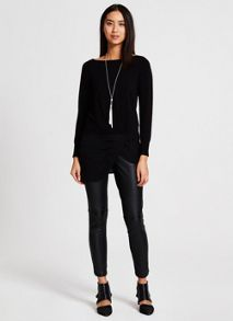 Black Silk Hem Knit
