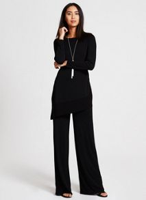 Mint Velvet Black Wide Leg Trouser