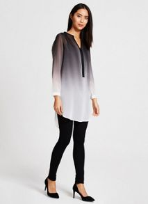Ombre Zip Front Tunic