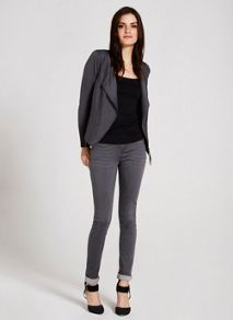 Mint Velvet Smoke Zip Front Knit