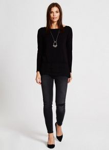 Mint Velvet Black Asymmetric Knit