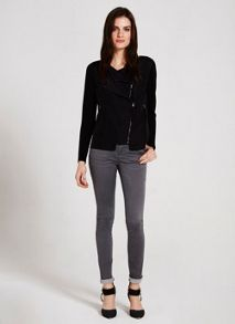 Mint Velvet Black Zip Front Knit