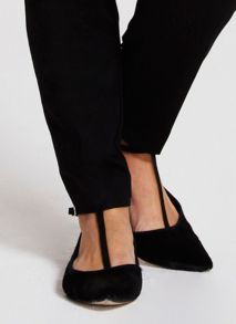 Black Katie Ponyskin T Bar Ballet Pump