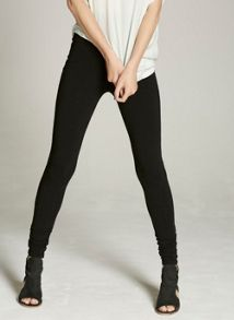 Mint Velvet Black Ruched Legging