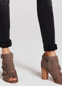 Mint Velvet Taupe Rinia Triple Buckle Shoe Boot