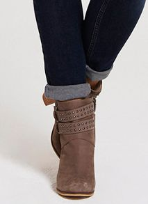 Taupe Steph Nubuck Ankle Boot