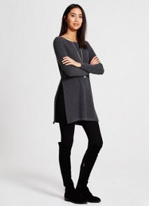 Mint Velvet Smoke Side Split Tunic