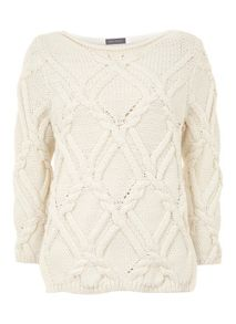 Mint Velvet Cream Cable Knit