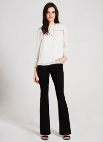 Savannah Black Flare Jean