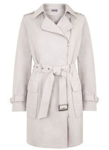 Mint Velvet Chalk Biker Trench Coat