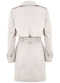 Chalk Cotton Mix Trench Coat