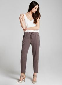 Mint Velvet Mocha Luxe Zip Sports Pant