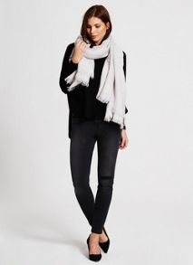 Dove Foil Textured Scarf