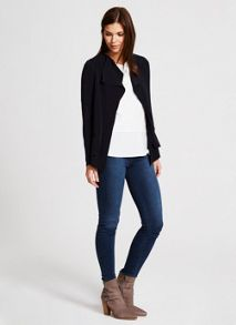 Navy Double Layer Knit