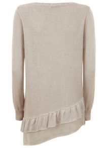 Mint Velvet Blush Ruffle Hem Knit