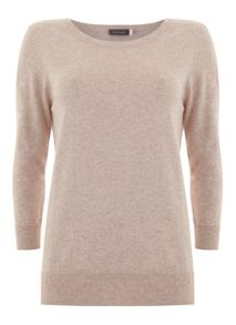 Mint Velvet Blush 3/4 Crew Neck Knit