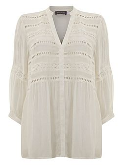 Ivory Brodrais Blouse